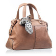 Fashion women handbag over white