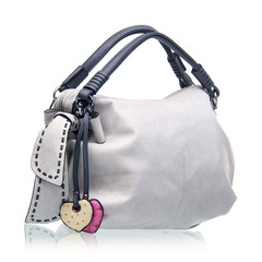 Fashion women handbag over white background