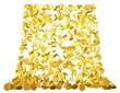 Euro-Gold-Münzen-Wasserfall