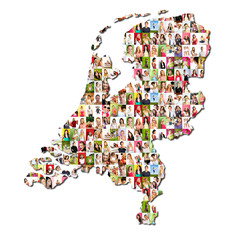 Portrait of a lot of people - the netherlands