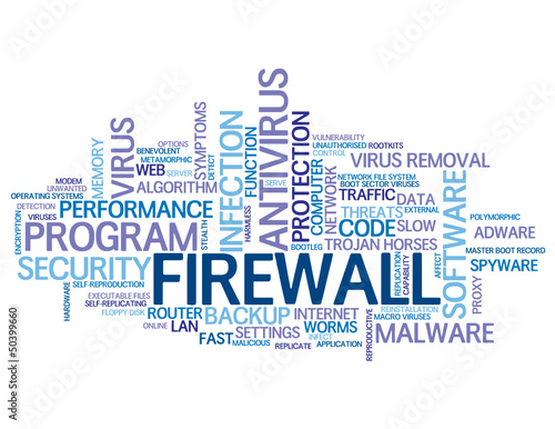 """FIREWALL"" Tag Cloud (antivirus software security protection)"