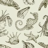 sea creatures pattern