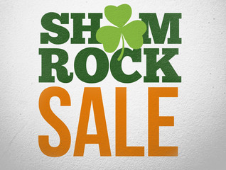 Advertisement for shamrock sale