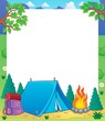 Camping theme frame 1