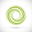 Vector Green Vortex Background