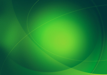 green graphic backdrop
