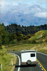 Auto-camper on the move