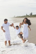 Mother Father Parents Boy Child Family Beach Fun