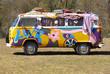 Leinwanddruck Bild - Hippie van