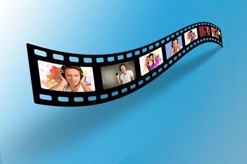 Filmstreifen mit verschiedenen Bildern