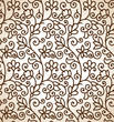 Seamless brown floral background