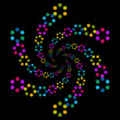 Black Background with Colourful Elements