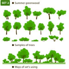 Summer greenwood. Set 2.