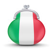 Italian flag on a wallet.