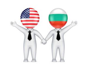 US-Bulgarian cooperation concept.