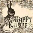 Happy easter vintage background