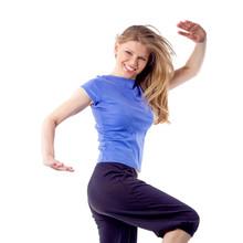 Sexy kobiet aerobik taniec trener Zumba stanowią izolowane