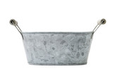 Zinc-coated washbowl
