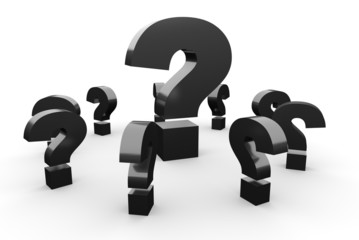 Fragen über Fragen Konzept - Schwarz