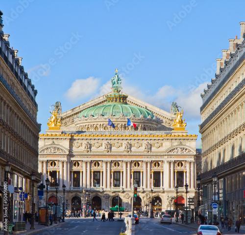 Leinwanddruck Bild Opera of Paris, France