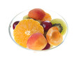 Fresh fruits salad. on white background