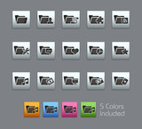 Folder Icons 2 / Vector includes 5 Colors