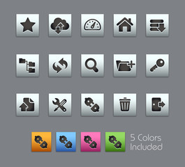 FTP & Hosting Icons / Vector includes 5 Colors