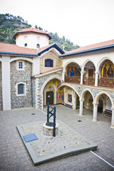 Monastery of the Virgin of Kykkos in Troodos mountains, Cyprus.