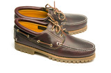 casual rugged moccasin style men's leather shoes