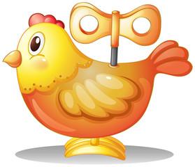 A toy chicken