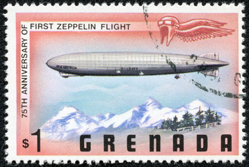 stamp dedicated to 75th anniversary of first zeppelin flight