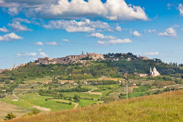 Montepulciano town view, Tuscany, Italy