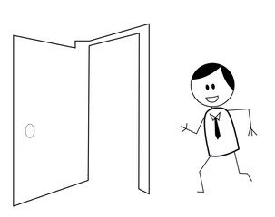 businessman door