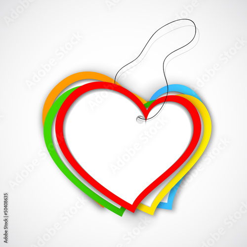 Colorful Paper Heart