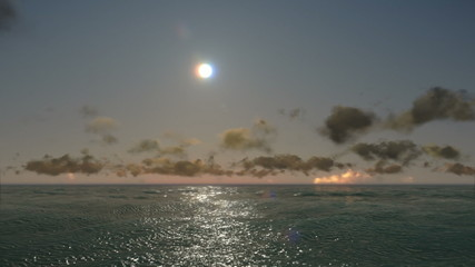 Sunset time lapse over sea