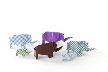 Elefantenherde Origami 5