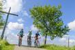 Drei Radsportler
