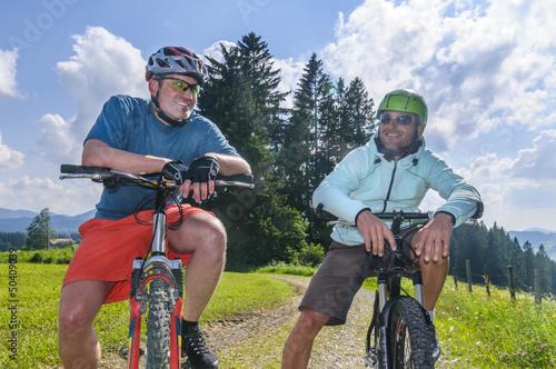 fröhliche Radsportler