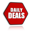 daily deals red hexagon