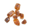 brown cane sugar crystals