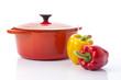 鍋とパプリカ