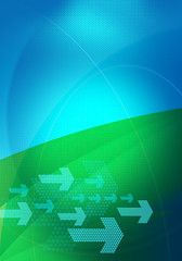 graphic backdrop blue green