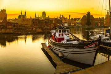 Gdansk - the historic Polish city at sunset.