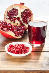Ripe pomegranates