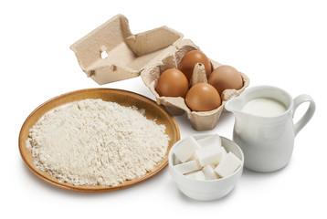 Ingredienti per preparare un dolce