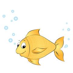 Fisch mit Blubberblasen