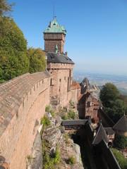 Blick auf die Hochkönigsburg, Elsass
