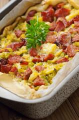 Sausage and cauliflower cake - Tortino salsicce e cavolfiori