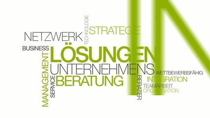 Network Lösungen Unternehmens beratung grün Wort tag cloud
