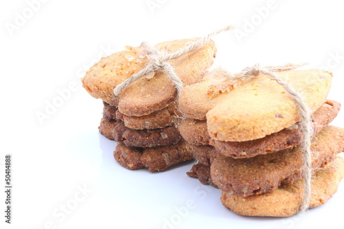 Vanilla cookies in pile